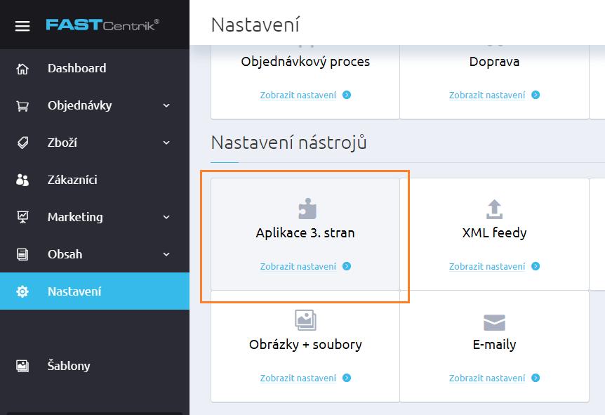 Propojení FASTCentrik