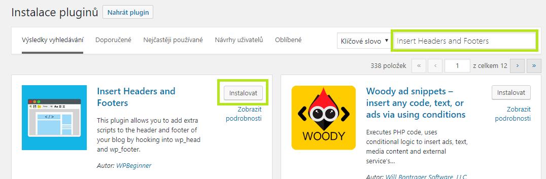 WordPress propojení